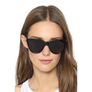 LeSpecs Half Moon Magic Sunglasses Black